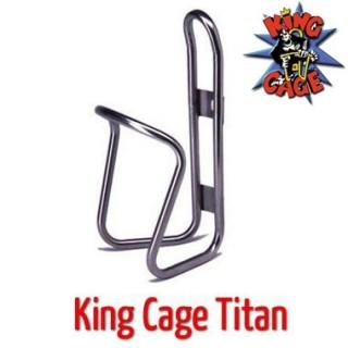 King Cage flaskeholder i titan og rustfritt stål
