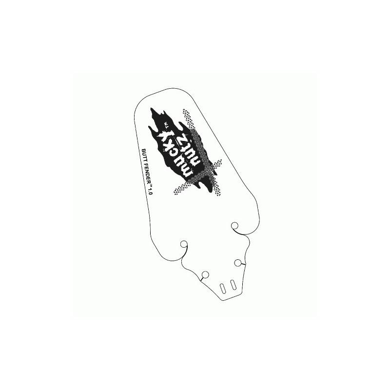 Butt Fender baksjerm i hvit