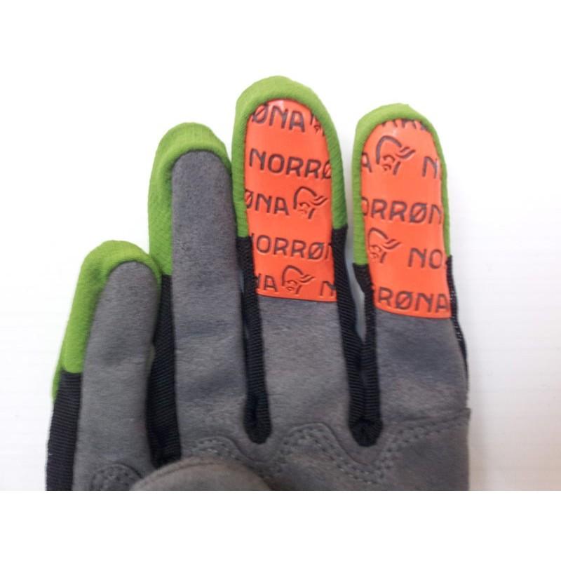 Nørrøna fjørå flex2 Gloves med gummigrep på bremsefingrene