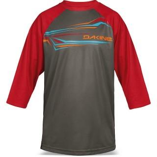 Dakine Dropout 3/4 Jersey i rød/grå